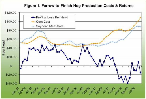 Farrow-to-finish Hog production costs and returns