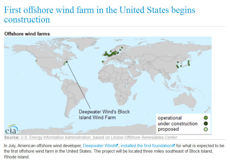 First offshore wind farm in the U.S. begins construction
