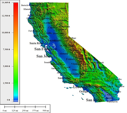 Californias average precipitation